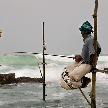 Daily catch! - Sri Lankan Fisherman by crowdedstudios