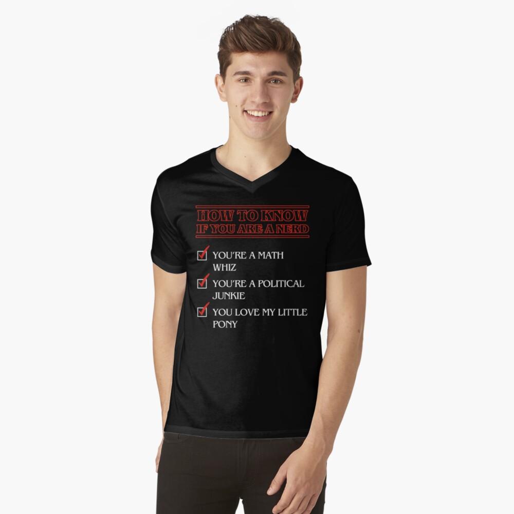 Nerd checklist Camiseta de cuello en V