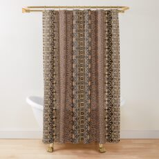 Indonesian batik by Hypersphere Shower Curtain
