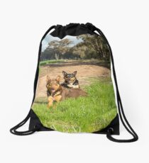 Ross & Missy......Young Kelpies..... Drawstring Bag
