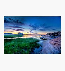 Sunset Blue Photographic Print