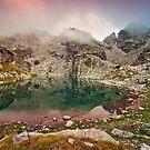 lake sunset by fos4o