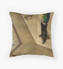 Pause In Time To Cross The Line © Throw Pillow