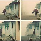 A monk in the morning fog by Lauren Tober