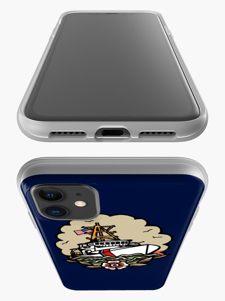 Alternate view of Underway Coast Guard Fast Response Cutter Traditional Tattoo Flash iPhone Case & Cover