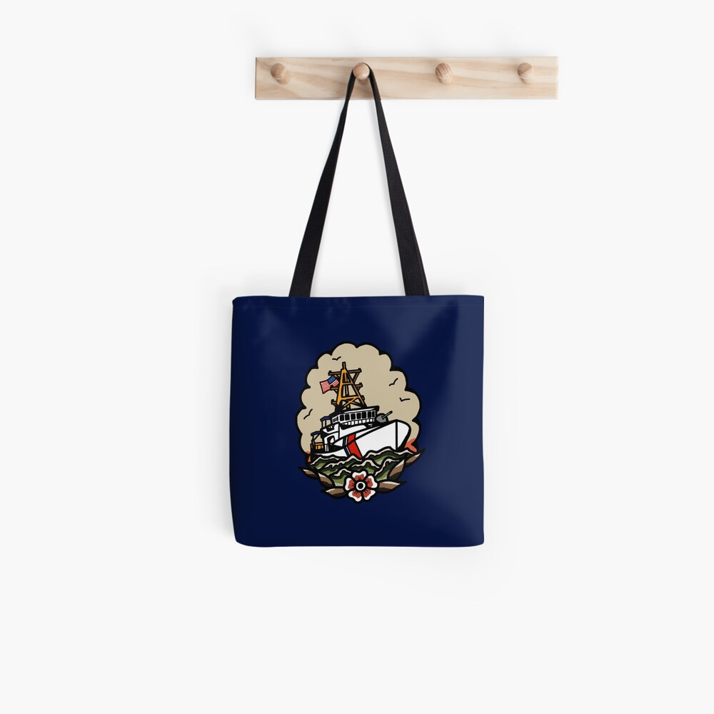 Underway Coast Guard Fast Response Cutter Traditional Tattoo Flash Tote Bag