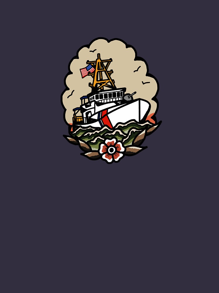 Underway Coast Guard Fast Response Cutter Traditional Tattoo Flash by AlwaysReadyCltv
