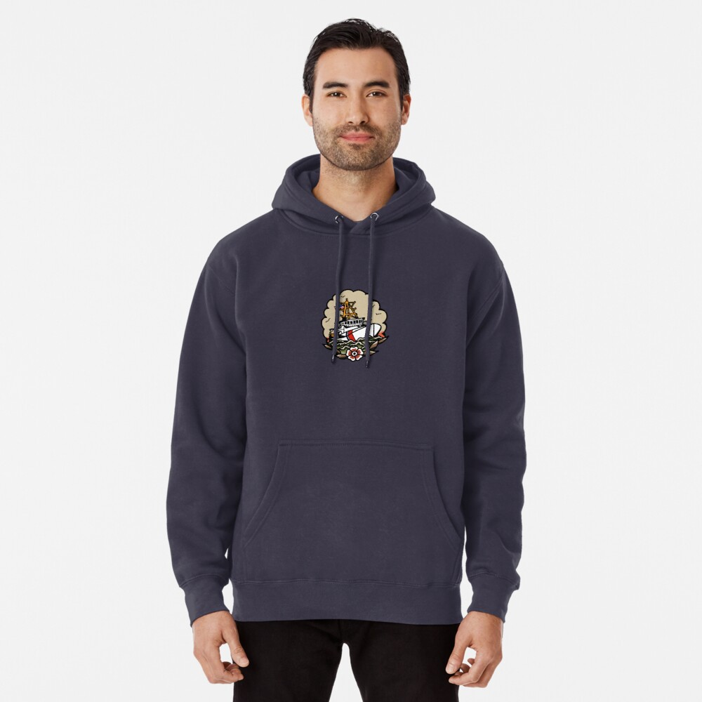 Underway Coast Guard Fast Response Cutter Traditional Tattoo Flash Pullover Hoodie