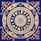 California poppy Mandala by Julie Ann Accornero