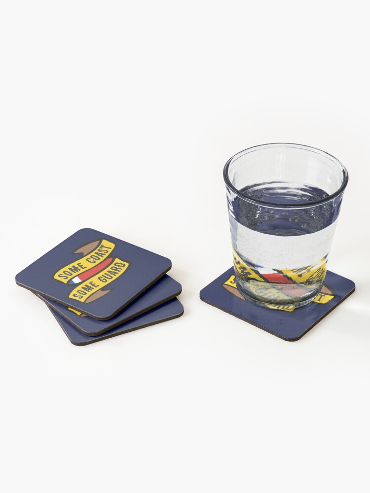 Alternate view of Some Coast, Some Guard Coasters (Set of 4)