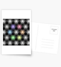 Lights - hexagon rainbow Postcards