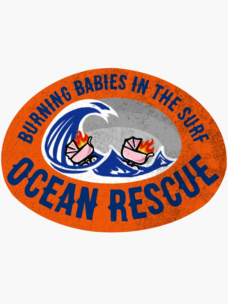 Ocean Rescue Saving Burning Babies in the Surf by AlwaysReadyCltv
