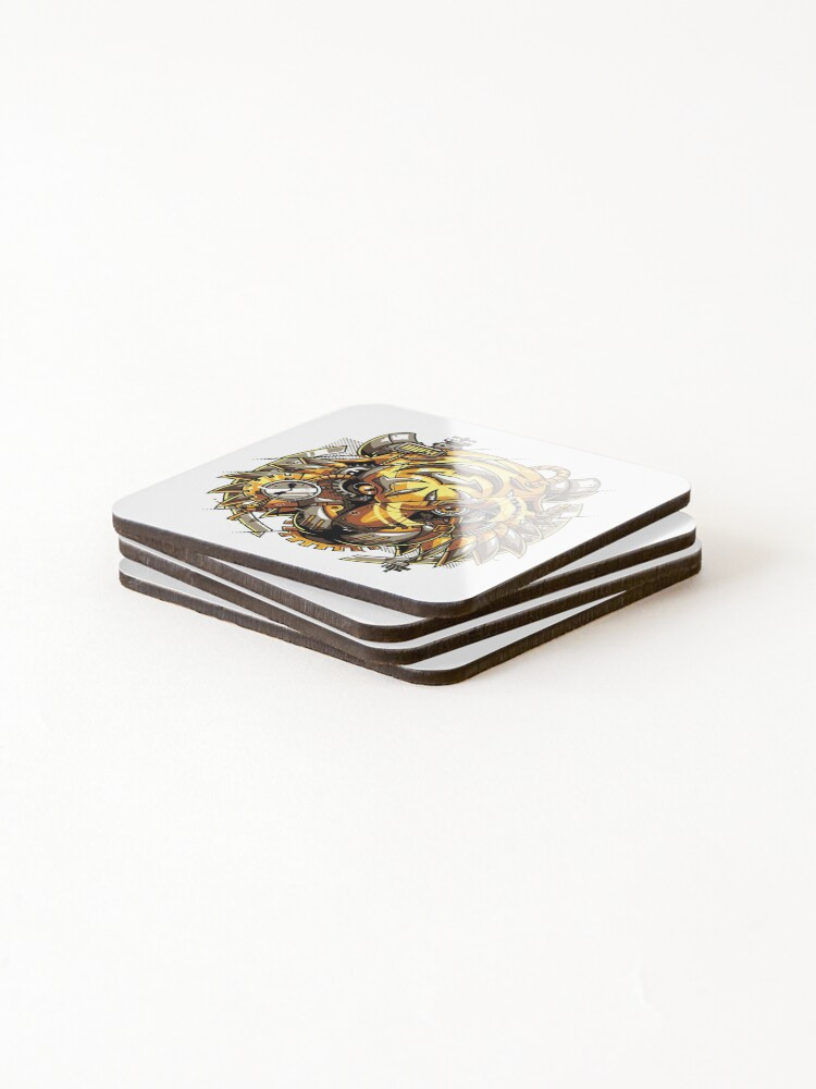 Alternate view of Digitalized Tiger Coasters (Set of 4)