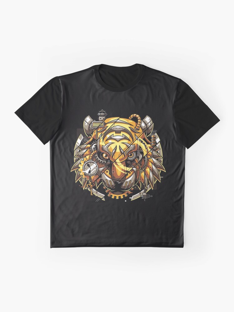 Alternate view of Digitalized Tiger Graphic T-Shirt