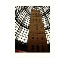 Shopping centre tower in Melbourne. Art Print