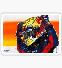 Max Verstappen - 2019 F1 graffiti painting by DRAutoArt Sticker