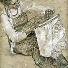 Making embroidery by Masha Kurbatova