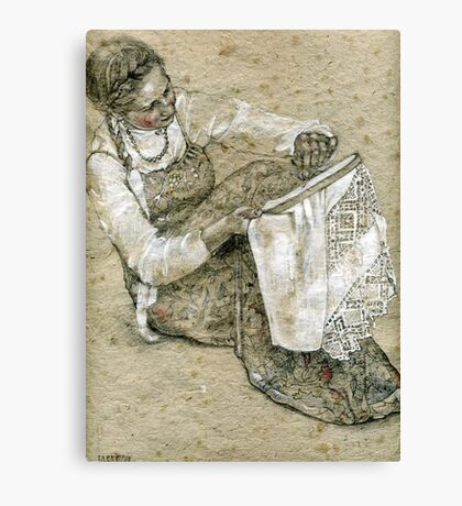 Making embroidery Canvas Print