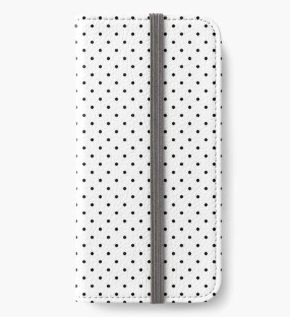 Blanco punteado Funda tarjetero para iPhone