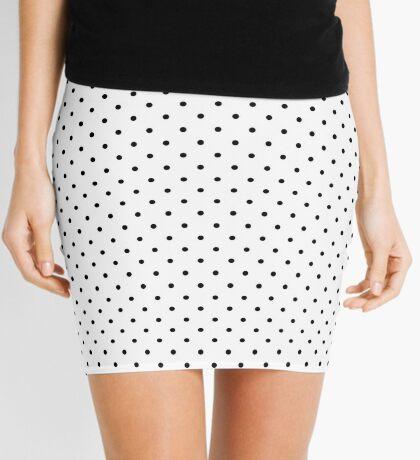 Blanco punteado Minifalda