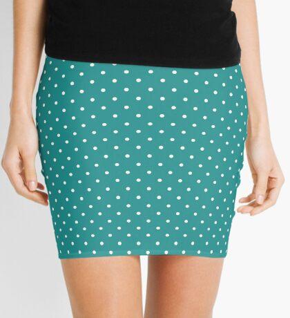 Turquesa punteada Minifalda