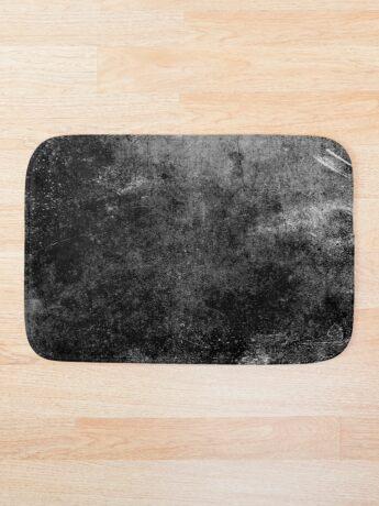 Grunge textura abstracta negro Alfombra de baño