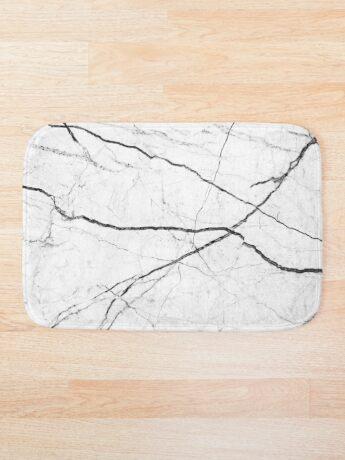 Mármol abstracto blanco textura Alfombra de baño
