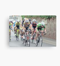 Tour of Britain Cycle Race Canvas Print