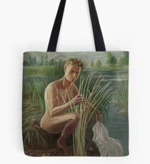 Young Pan Catches Syrinx Tote Bag