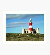 Lighthouse Cape Agulhas Art Print