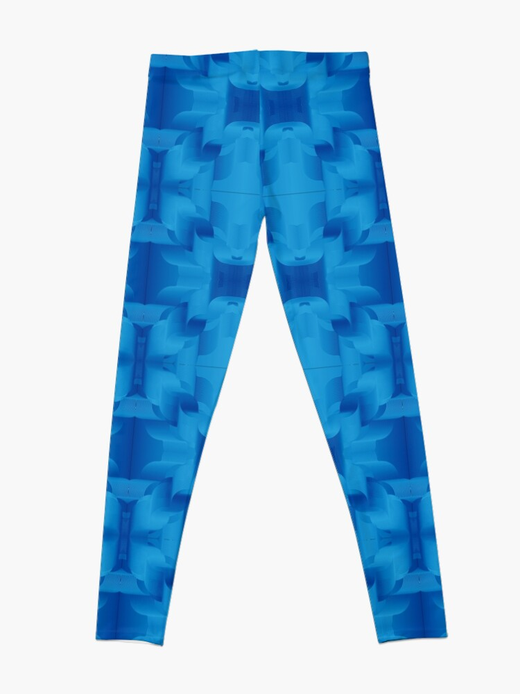 Alternate view of Blue is digital: Scream with me Leggings