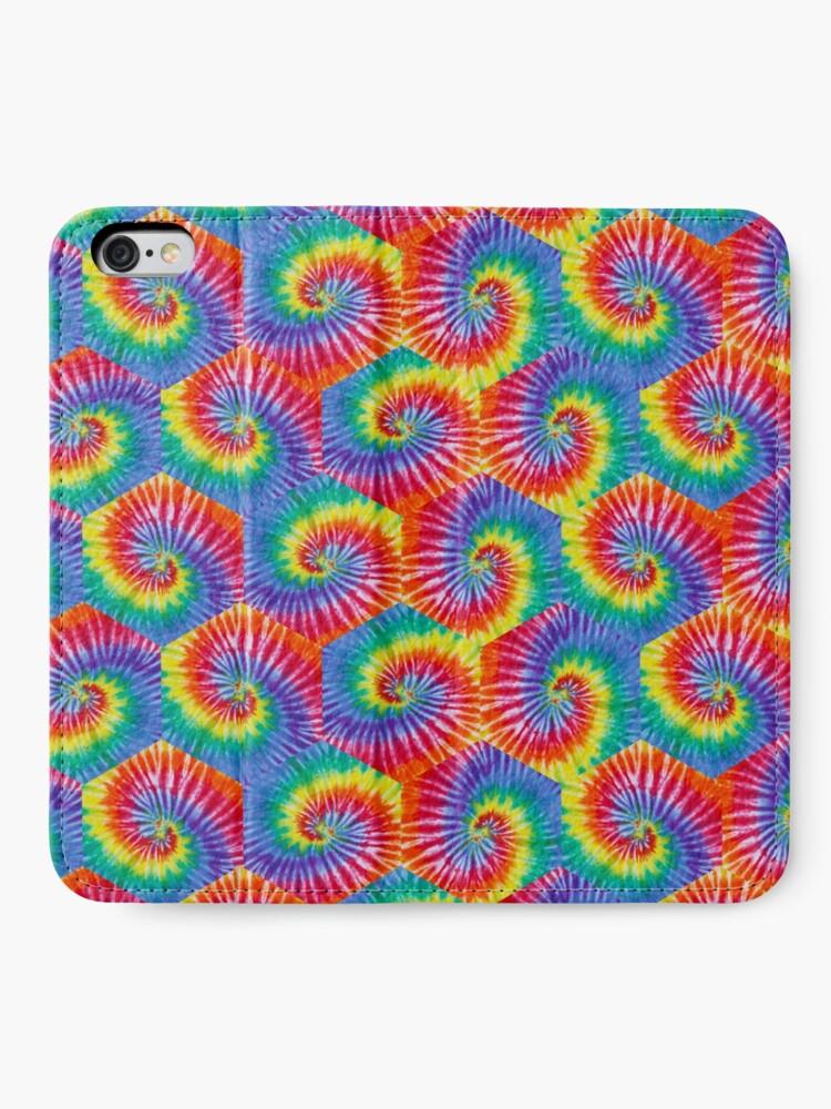 Alternate view of Tie-Dye Hexagon Psychedelic Bohemian Hippie Festival 60's Funky 70's iPhone Wallet