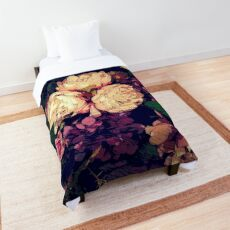 Shabby-chic Flower Bouquet digital painting Comforter