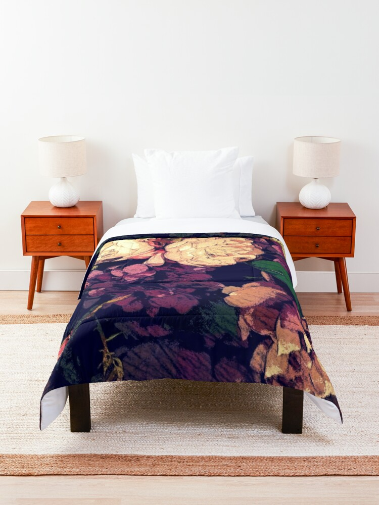 Alternate view of Shabby-chic Flower Bouquet digital painting Comforter