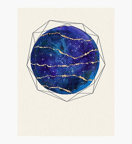 Blue and gold galaxy Photographic Print