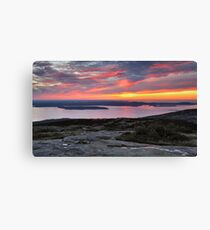 Sunrise, Cadillac Mountain Canvas Print
