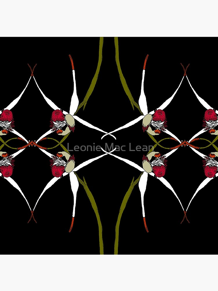 Exotic Native Orchid Mirror Design by yallmia