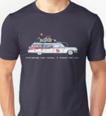 Ecto 1 - Ghostbusters Pixel Art Slim Fit T-Shirt