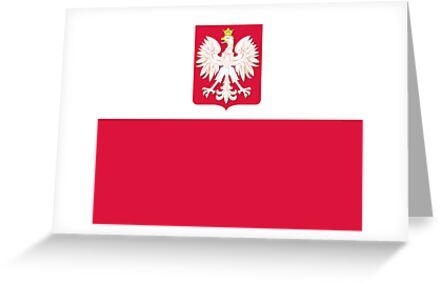 Polish Flag with Coat of Arms by PolishArt