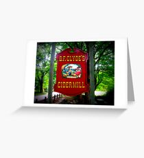 B.F. Clyde Cider Mill Sign Greeting Card