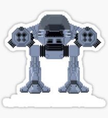 ED209 - Robocop Pixel Art Sticker