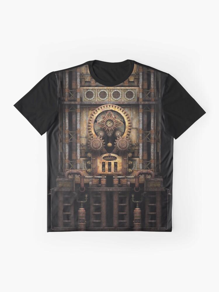 Alternate view of Infernal Steampunk Vintage Machine #3 Graphic T-Shirt