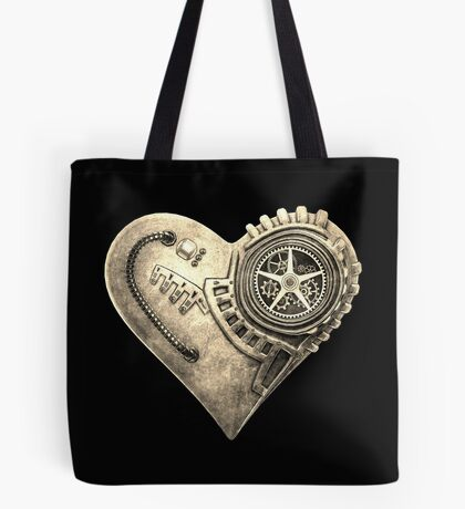 Steampunk Vintage Clockwork Heart Steampunk T-Shirts Tote Bag