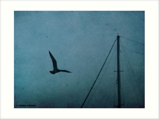 the bird and the mast by Daphne Kotsiani