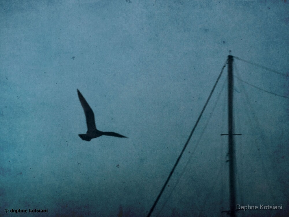 the bird and the mast by Daphne Kotsiani