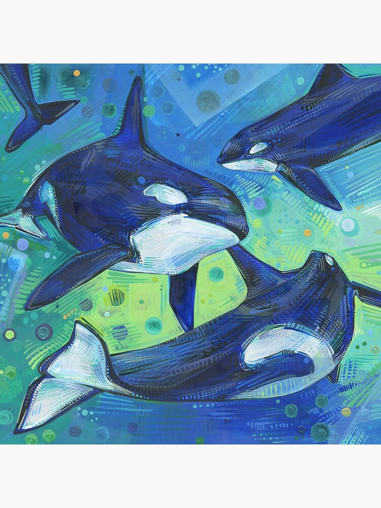 Orcas painting - 2012 by gwennpaints