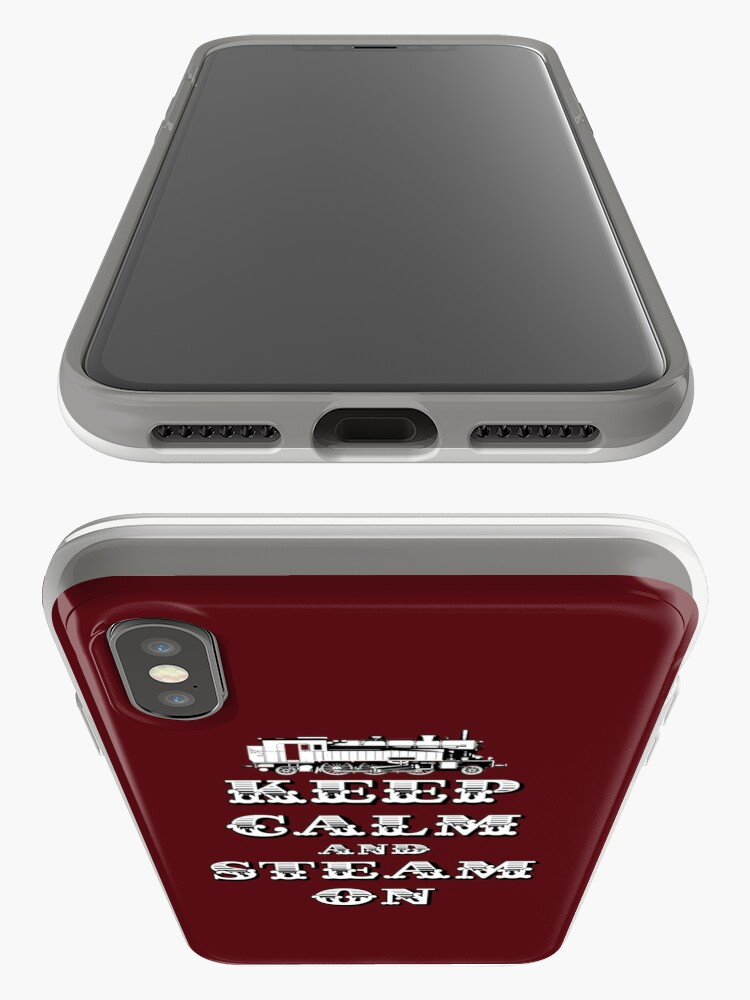 Alternate view of Keep Calm and Steam On Steam Engine #1A iPhone Cases & Covers