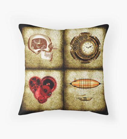 Vintage Steampunk Throw Pillow