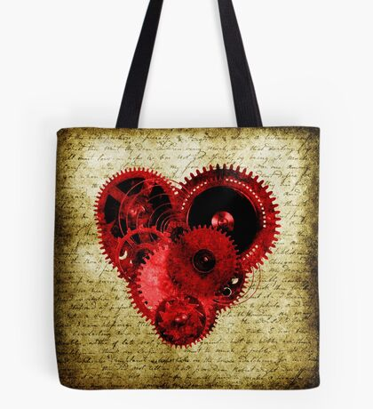 Vintage Steampunk Heart Tote Bag