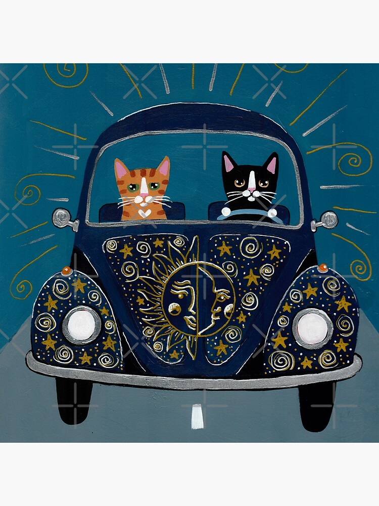 Sun and Stars and Moon Road Trip Cats by kilkennycat